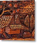 Bali Wood Carving Metal Print