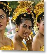Balinese Dancers Metal Print by David Smith