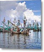 Balinese Fishing Boats Metal Print