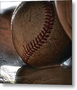 Ball And Glove Still Life Metal Print