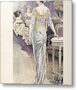 Ball Gown Metal Print by French School