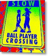 Ball Player Crossing Metal Print