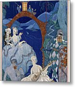 Ball Under The Blue Moon Metal Print by Georges Barbier