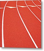 Ballard High School Track Sruface Metal Print by Nathan Griffith