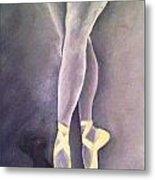 Ballerina And Kitten Metal Print