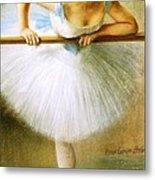 Ballerina At The Bar Metal Print