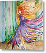 Ballerina Curtain Call Metal Print