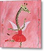 Ballerina Giraffe Girls Room Art Metal Print by Kristi L Randall Brooklyn Alien Art