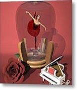 Ballerina In A Bottle - Kiko Metal Print