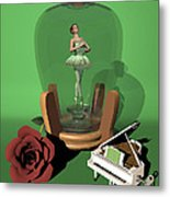 Ballerina In A Bottle - Nanashi Metal Print