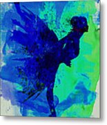 Ballerina On Stage Watercolor 2 Metal Print