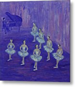 Ballerina Rehearsal Metal Print