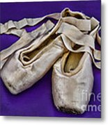 Ballerina Slippers Metal Print