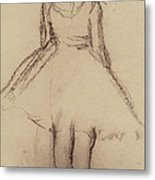 Ballerina Viewed From The Back  Metal Print