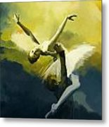 Ballet Dancer Metal Print by Corporate Art Task Force