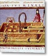 Ballista Fulminalis. Siege Machine Used Metal Print