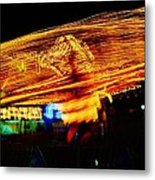 Ballons Ride At Night Metal Print