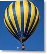 Balloon And The Moon Metal Print