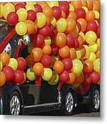 Balloon Car Metal Print