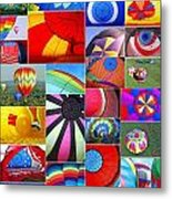 Balloon Fantasy Collage Metal Print