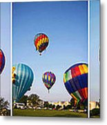 Balloon Festival Panels Metal Print