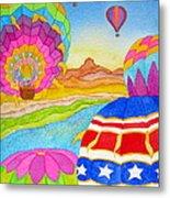 Balloon Festival Yuma Metal Print