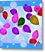 Balloon Frenzy Metal Print