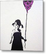 Balloon Girl Metal Print
