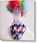 Balloon Heads - Derpie The Clown Metal Print