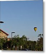 Balloon Over Lorimar Metal Print