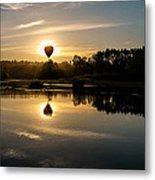 Balloon Over Snohomish River Metal Print