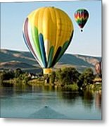 Balloon Reflections Metal Print