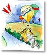 Ballooning In France Metal Print