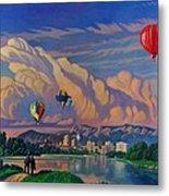 Ballooning On The Rio Grande Metal Print