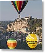 Balloons At Rocamadour Midi Pyrenees France Metal Print by Colin and Linda McKie