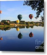 Balloons Heading East Metal Print