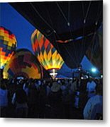 Balloons In The Crowd Metal Print
