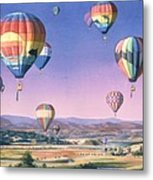 Balloons Over San Dieguito Metal Print