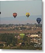 Balloons Over The Valley Metal Print