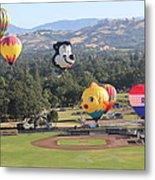 Balloons Over Wine Country Metal Print