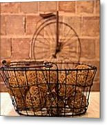 Balls In The Basket Metal Print