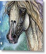 Balon Polish Arabian Horse Portrait 4 Metal Print