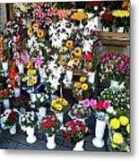 Baltic Flower Shop Metal Print