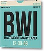 Baltimore Airport Poster 1 Metal Print