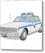 Baltimore City Police Cruiser Metal Print by Calvert Koerber