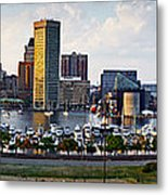 Baltimore Harbor Skyline Panorama Metal Print