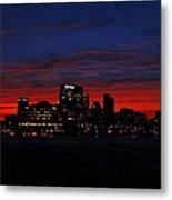 Baltimore Harbor Sunset Metal Print