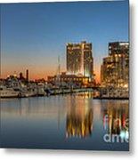 Baltimore Inner Harbor East Skyline At Dawn I Metal Print
