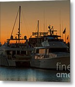 Baltimore Inner Harbor Marina At Dawn I Metal Print