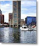 Baltimore Inner Harbor Marina Metal Print by Olivier Le Queinec